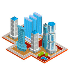 isometric 3d modern urban vector image
