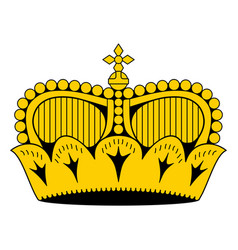 liechtenstein princely hat crown as it appears on vector image