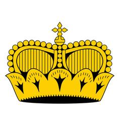 Liechtenstein princely hat crown as it appears on vector