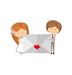 Lovely couple cartoon vector