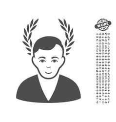 Man Glory Icon With Bonus vector