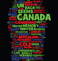 Memories of canada text background word cloud vector
