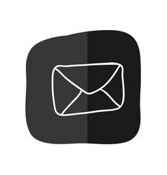 Message envelope draw vector