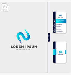 Minimal n initial logo template free business vector