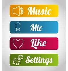 Mobile applications shop entertainment vector image