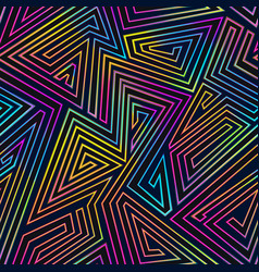Neon lines geometric seamless pattern vector