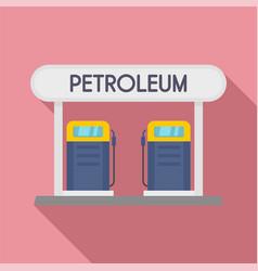 petroleum station icon flat style vector image