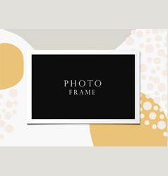 photo frame on beautiful background vector image