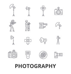 Photography photographer camera photo studio vector
