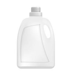 plastic bottle of detergent mockup realistic vector image