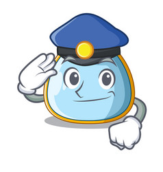 police character baby bib for feeding toddler vector image