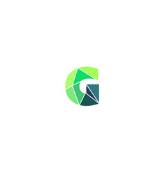polygonal trend letter g logotype color vector image