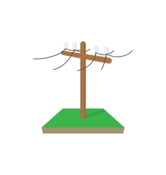 Power pole icon cartoon style vector