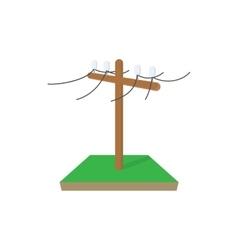Power pole icon cartoon style vector