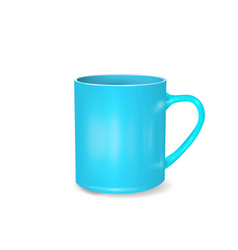 realistic blue coffee or tea cup isolated on vector image