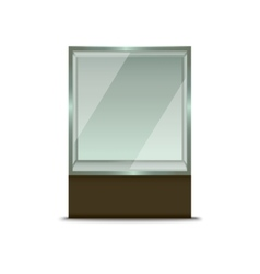 Realistic Glass Shop Window vector