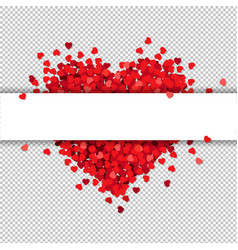 red heart isolated with banner transparent vector image