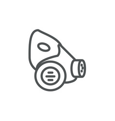 respirator industrial protection safety line vector image