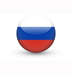 Round icon with national flag of Russia vector image