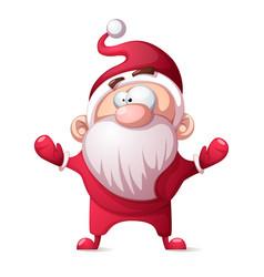 Santa claus father winter - cartoon funny cute vector