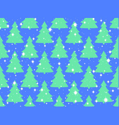 seamless pattern with christmas trees and vector image