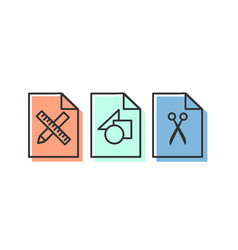 Set linear icons 09 vector