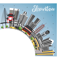 shantou china city skyline with gray buildings vector image