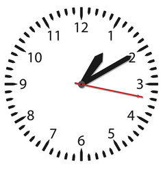 simple black and white watch vector image