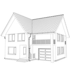sketch house eps 10 vector image