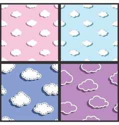 Sky textile fabric clouds pattern vector