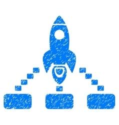 Space Rocket Collaboration Grainy Texture Icon vector image
