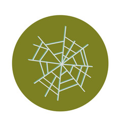 spider web icon on white background flat and block vector image