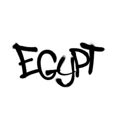 Sprayed egypt font graffiti with overspray in vector