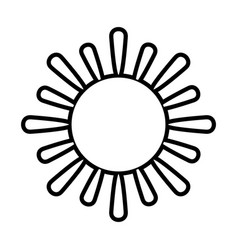 sun cartoon icon image vector image