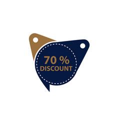 tag discount label 70 percent vector image