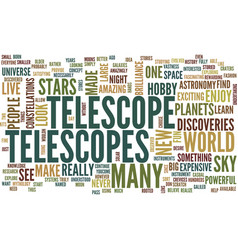 Telescopes text background word cloud concept vector