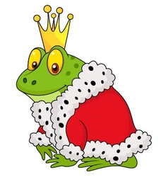 The frog king cartoon vector