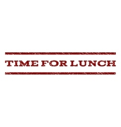 Time for lunch watermark stamp vector