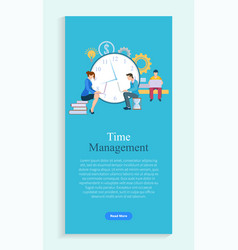 time management people working hard on projects vector image
