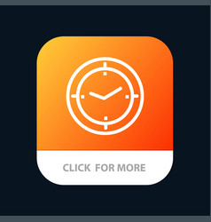 Time timer compass machine mobile app button vector