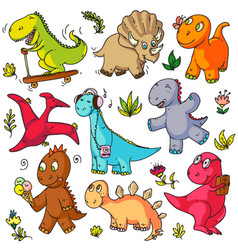 Toys doodles funny children object sketches vector