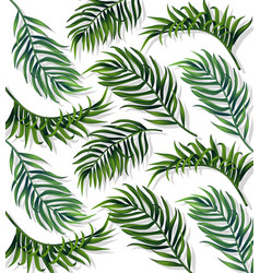tropic leaves pattern detailed 3d exotic vector image