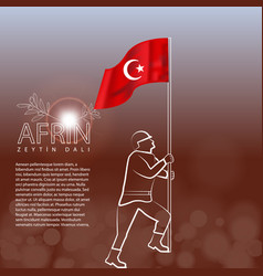 Turkish victory on afrin translation meaining is vector