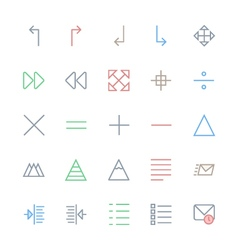 User Interface Colored Line Icons 20 vector
