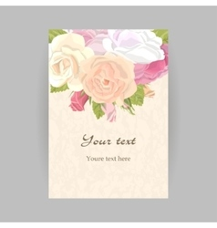 Vertical romantic greeting card vector image