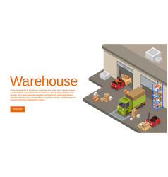 Warehouse isometric 3d of vector