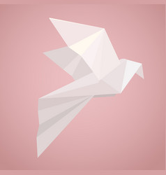 white origami pigeon paper zoo vector image