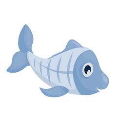 Xray fish - cartoon underwater animal vector