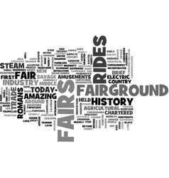 A brief history of the fairground industry text vector