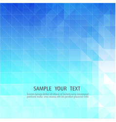 Blue abstract backgroundmosaic of geometric vector